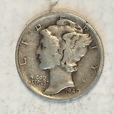 1940-S Mercury Dime - From old Album - High Quality Scans #B754