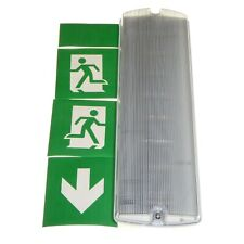 5W LED Emergency Light Bulkhead Exit Sign IP65 Maintained Cool White 4000K New
