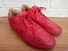 Men's Android Homme Red Leather Woven Low Trainers Size 41 / UK 7