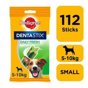 112 Pedigree Daily Dentastix Fresh Dental Sticks Dog Treats Small Dog Chews