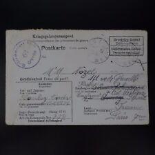 LETTRE PRISONNIER DE GUERRE STALAG VI G -> PARIS KRIEGSGEFANGENENPOST POW