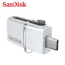 SanDisk 32Go Blanc OTG Ultra Dual microUSB Clé USB 3.0 Pen Drive SDDD2-032G