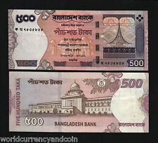 BANGLADESH 500 TAKA P43 2004 MONUMENT MAP UNC WORLD CURRENCY MONEY BILL BANKNOTE