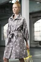NWT Anthropologie Lila Flower-Dotted Dolman-Sleeved Trench Coat Size 6 8 12