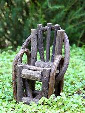 Miniature Dollhouse FAIRY GARDEN Furniture ~ Rustic Vine Chair ~ NEW