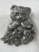 Vintage Brooch Earring set Teddy Bears Torino style