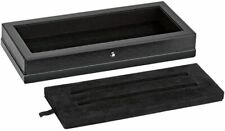 Montblanc Desk Accessories, Pen Tray, Wood & Black Leather