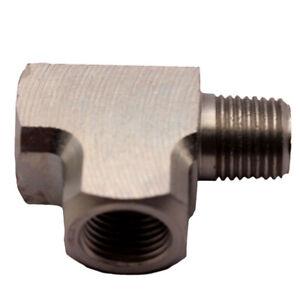 "BSPT For Air Oil Water Pressure Sensor Gauge Mild Adapter T Tee Fitting 1/8"""