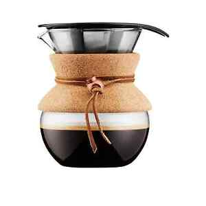 NEW Bodum Pour Over Coffee Maker 4 Cup Cork (RRP $75)