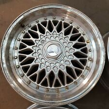 Set of 4 Dare RS Alloys 17x7.5 4x100/108 et35 Silver w/ Gold Rivets   Second Han