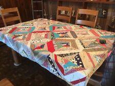 Vintage Crazy Quilt.....Strips Of Fabric.....