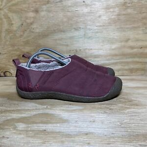 Keen Cush Howser Women's Shoes Size 10.5 Tawny Port Maroon Comfort Slip-On