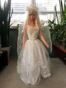 Vintage My Size Barbie Life Size Barbie Doll  3 Feet Tall Wedding Dress