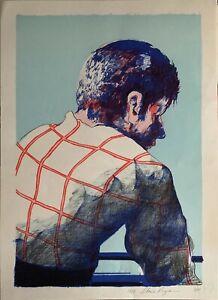 Liberio Reggiani litografia Figura  62x46 firmata numerata 31/99 anno 1973