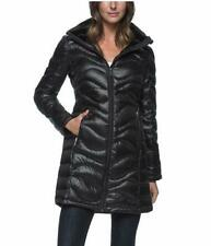 WOMENS ANDREW MARC LONG DOWN 650 FILL DETACHABLE HOODED JACKET SIZE SMALL