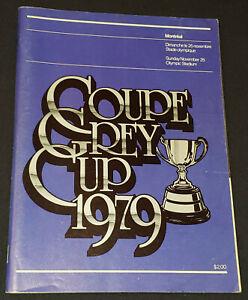 1979 - CFL - 67 GREY CUP - ALOUETTES vs ESKIMOS - OLYMPIC STADIUM - PROGRAM