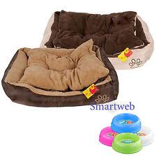 S-XL Cama para perro con almohada Cuna Sofá Gatos Animal