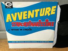 LP OST LIBRARY AVVENTURE STRAORDINARISSIME ETTORE DE CAROLIS CAM SAG 9093 RARO!