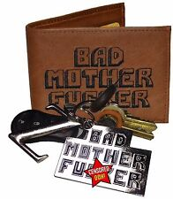 The Original BMF Brown Leather Wallet & BMF Key Chain Combo
