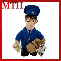 "Postman Pat Soft Plush Toy 1996 Vintage 10"" Glasses Letter Post Office Bag BNWT"