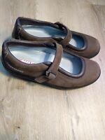 MBT Women shape ups US 9.5 Brown Leather Mary Jane Rocker Toning Shoes