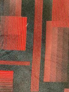 ARROW USA 1851 BLACK RED BLOCKS BEAUTIFUL SILK NECKTIE TIE MAP1120A #I20