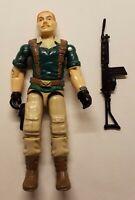1985 GI JOE CRANKCASE V1 ACTION FIGURE WITH GUN - INCOMPLETE