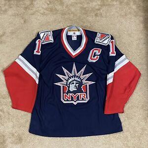 CCM Mark Messier New York Rangers Lady Liberty NHL Hockey Jersey NY Blue L
