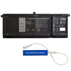H5CKD REPLACEMENT BATTERY FOR DELL LATITUDE 3410 3510 INSPIRON 5501 53WHR TXD03