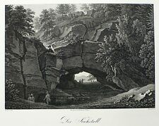 SÄCHSISCHE SCHWEIZ - KUHSTALL - J.G.A. Frenzel - Kupferstich um 1840