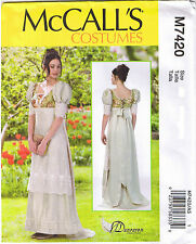 Regency Empire Dress Gown English Aristocracy Jane Austen Pattern 6 8 10 12 14
