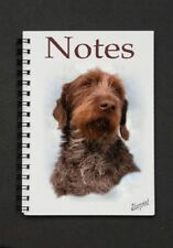 German Wirehaired Pointer Dog Notebook/Notepad with small image on every page