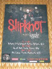 Slipknot - Lamb Of God - 2016 Australian Tour - Laminated Promo Poster