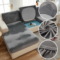 1/2/3 Seaters Stretch Velvet Sofa Couch Seat Cushion Covers Slipcover Protector