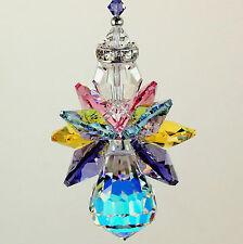 m/w Swarovski Crystal * RARE AB Body SPRING / EASTER Quad Wings Angel Suncatcher