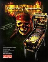 Disney PIRATES OF THE CARIBBEAN Pinball Machine Flyer Stern 2006 Original NOS