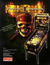 Disney PIRATES OF THE CARIBBEAN Pinball Machine Flyer Stern 2006 Original NOS