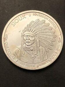 Piece De One Dollar 1Once D'argent Pur
