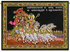 Indian Mahabharata Mandala Tapestry Wall Hanging Cotton Sequin Work Poster Decor