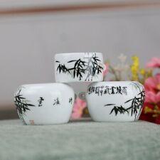 1set 3pcs Asian Bamboo Bird Cage Bamboo cups 竹�鸟食�