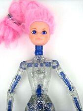 Polistil Co Creata Doll 1987 Pink Hair Blue Jewel Eyes Clear Sparkle Body Italy