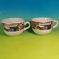 Lot of 2 Large Coffee Cups Mugs Soup Bowls CURRIER & IVES Collection Ceramic