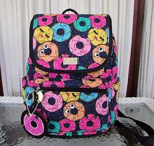 Luv Betsey Johnson Doughnut Medium Backpack Emoji Quilted Diaper School NWT