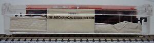 Bachmann N #70950 scale  Santa Fe 51' mechanical steel reefer road #55360