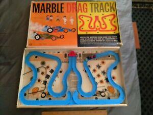 RARE VINTAGE 1960's OHIO ART MARBLE DRAG RACE GAME W/Box TLC NR