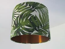 Botanical Palm Leaves Drum Lampshade Lightshade Brushed Copper
