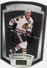 16/17 O-PEE-CHEE OPC PLATINUM NHL LOGO CREST #13 JONATHAN TOEWS BLACKHAWKS 32045