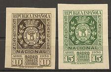 Edifil 727/728* Mh  Exposición Filatélica Madrid  Serie completa  1936  NL1091