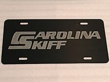 Carolina Skiff Boats Car Tag Diamond Etched on Aluminum License Plate