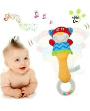 Baby Rattles Toys 0 - 6 Months (Pack of 2) Soft Hand Sensory Instrument Toy